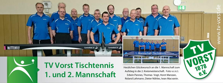 TV Vorst Tischtennis 1. und 2. Mannschaft Aufstieg 2. Kreismeisterschaft 2017