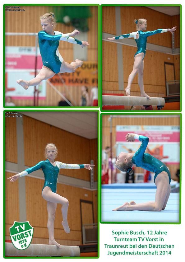 Turnteam TV Vorst, Sophie Busch bei den Deutschen Jugendmeisterschaften 2013
