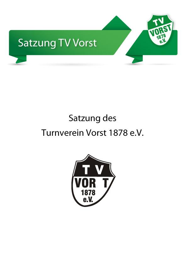 TV Vorst Vereinssatzung