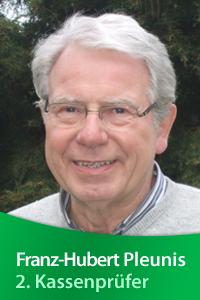 Vorstandsmitglied Franz-Hubert Pleunis