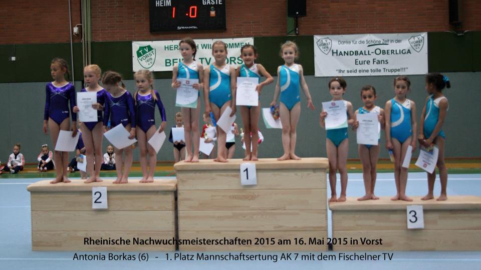 Antonia Borkas, Rheinische Mannschaftsmeister 2015 in der AK 7/8