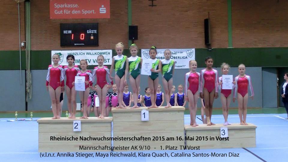 Rheinische Mannschaftsmeister 2015 in der AK 9/10