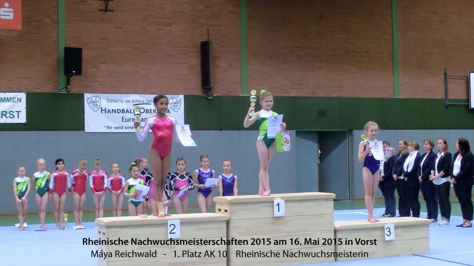 Maya Reichwald Rheinische Nachwuchsmeisterin 2015 in der AK 10