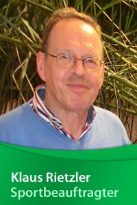 Sportbeauftragter Klaus Rietzler