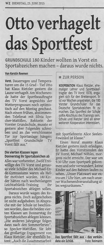 Bericht WZ zur Sportfest-Absage-23-06-15