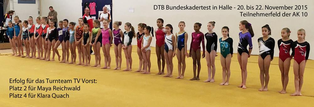DTB Bundeskadertest 2016 in Halle