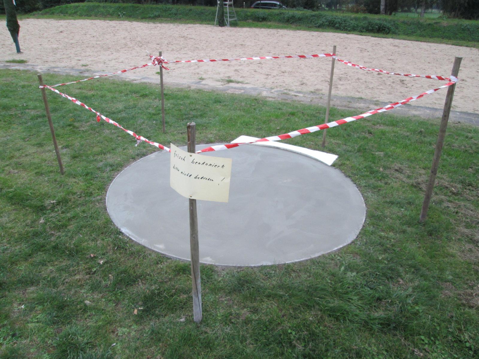 Kugelstoßanlage im Sportpark Vorst saniert