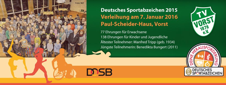 Verleihung Deutsches Sportabzeichen 2015