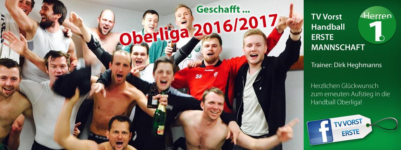 Handball ERSTE, Aufstieg in die Oberliga Saison 2016/2017