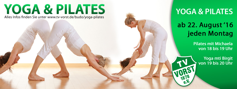 TV Vorst bietet Yoga mit Birgit, Pilates mit Michaela