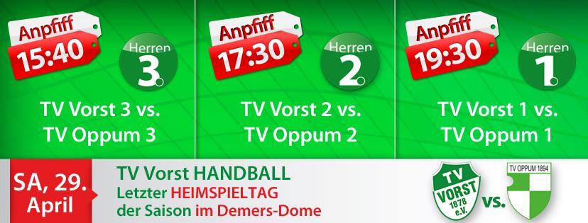 TV Vorst Handball Heimspieltag SA, 29.04.2017