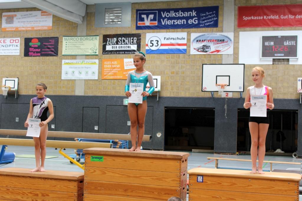 1. Platz Hannah Scholz, 2. Platz Annika Stieger, 3. Platz Lena Vogt Gaumeisterschaft P-Einzel 2017