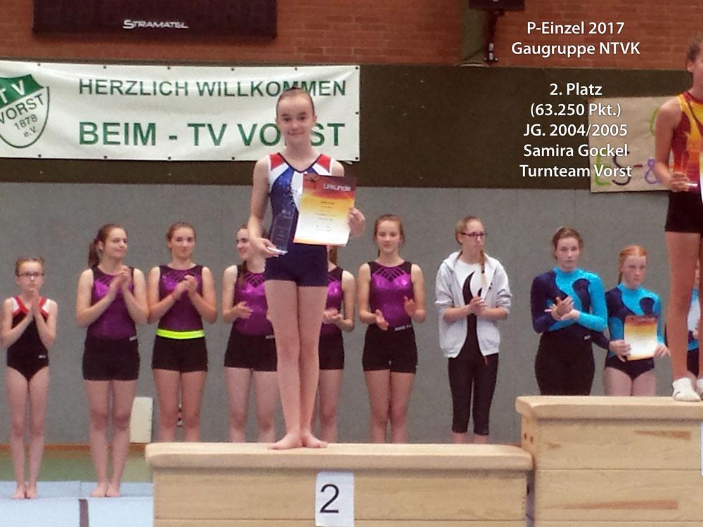 Samira Gockel, Turnteam Vorst