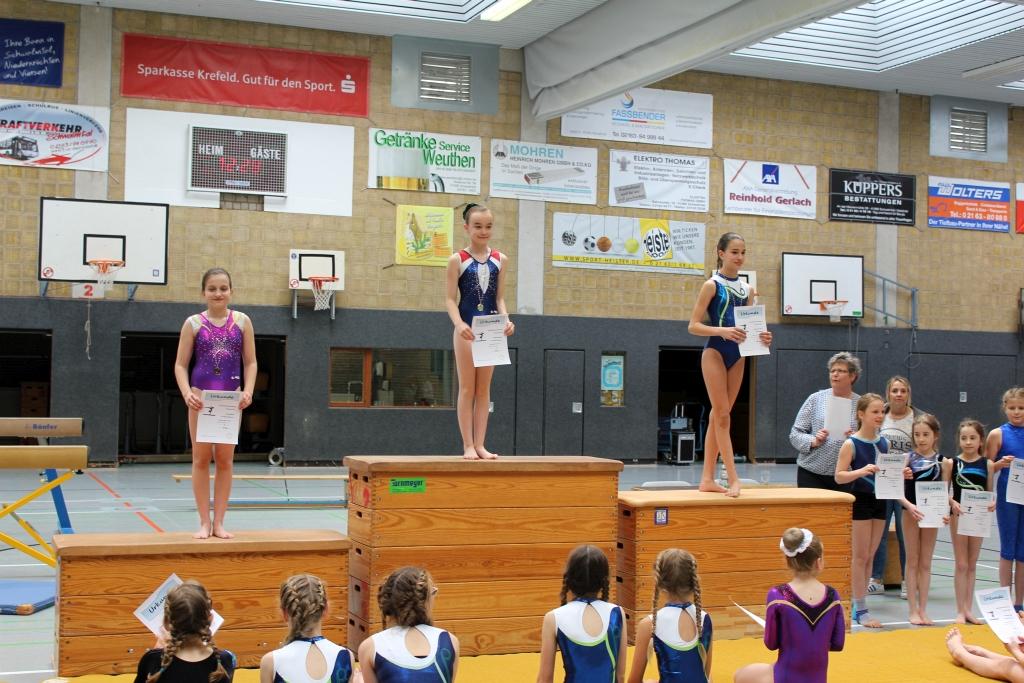 1. Platz Samira Gockel, 3. Platz Hannah Scholz / Gaumeisterschaften P-Einzel2017_FotoBMünze