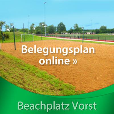 TV Vorst Beachplatz Belegungsplan online