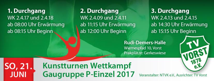 Turnteam TV Vorst Gaugruppe P-Einzel 2017