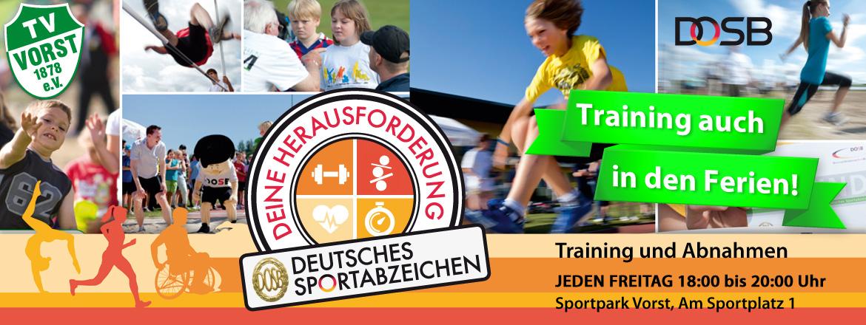Training Deutsches Sportabzeichen TV Vorst auch in den Ferien