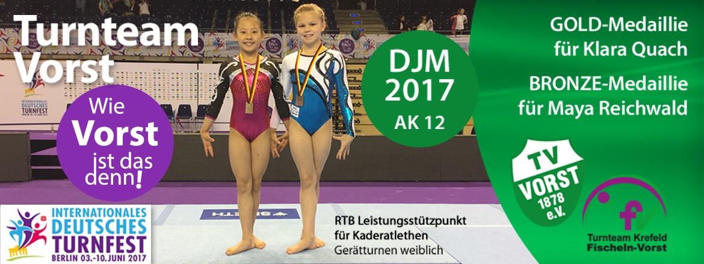 Deutsche Jugendmeisterschaften 2017 - Goldmedaillie Klara_Quach, Bronzmedaillie Maya Reichwald