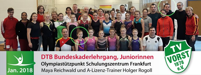 Bundeskaderlehrgang Turnteam Vorst Olympiastützpunkt Frankfurt