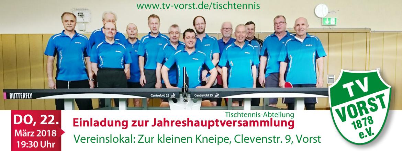Tischtennis Jahreshauptversammlung 2018