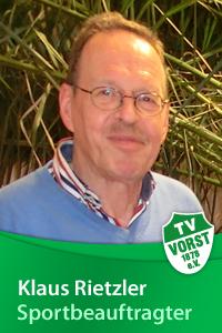 Klaus Rietzler, Sportbeauftragter TV Vorst