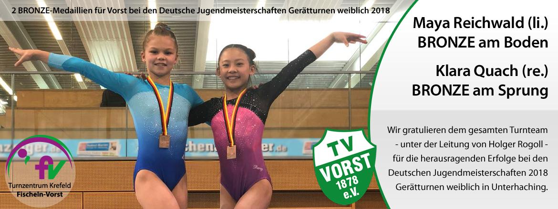 DJM_2018_Maya Reichwald Klara Quach Turnteam Vorst