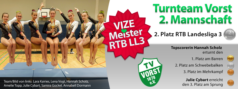 Turnteam Vorst 2M VIZEMEISTER Landesliga 3