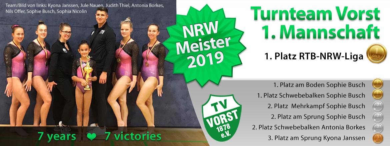 Turnteam Vorst 1M NRW MEISTER 2019