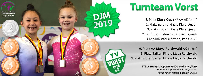 Maya Reichwald, Deutsche-Jugendmeisterschaften 2017, 2018, 2019