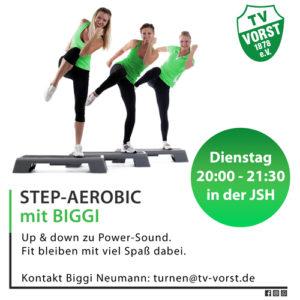 Step Aerobic mit Biggi Neumann