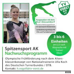 TV Vorst TurnTeamVorst Maya Reichwald, Spitzensport, Kunsturnen, AK Programm